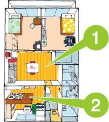 ひと部屋を収納スペースとして使える 3LDKタイプ