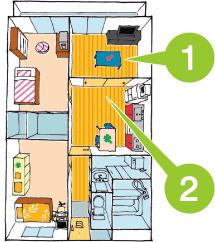 ひと部屋をリビングとして使える 3LDKタイプ