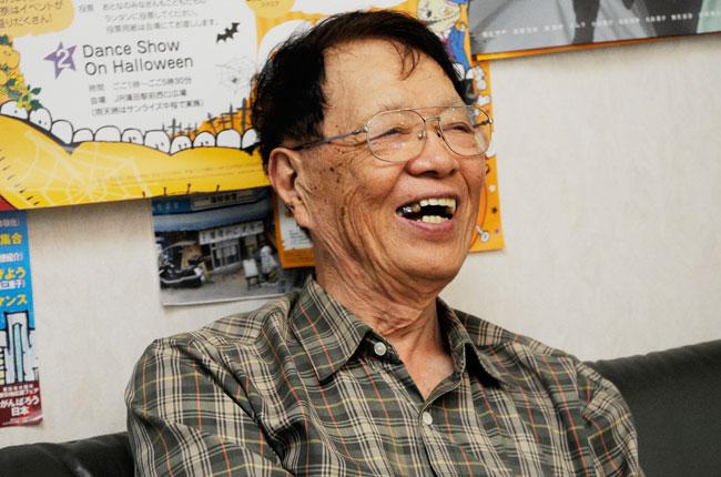 御年84歳の片山さん。「西口商店街を盛り上げたい」と、日々企画を考えるアイデアマンでいらっしゃいます