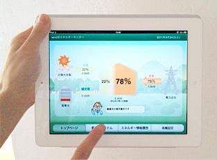 エネルギー管理用のモニター表示例