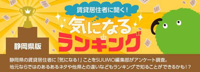 静岡県版 気になるランキング『現在、もしくは近い将来に住んでもいい・住みたいと思っている都道府県は?』