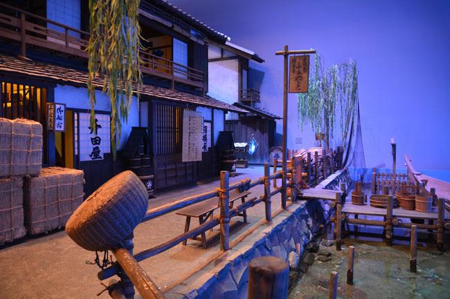 江東区深川江戸資料館の常設展示室