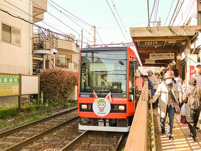 都電荒川線の庚申塚駅