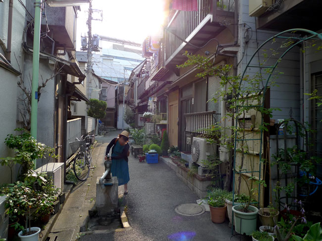 路地と古井戸