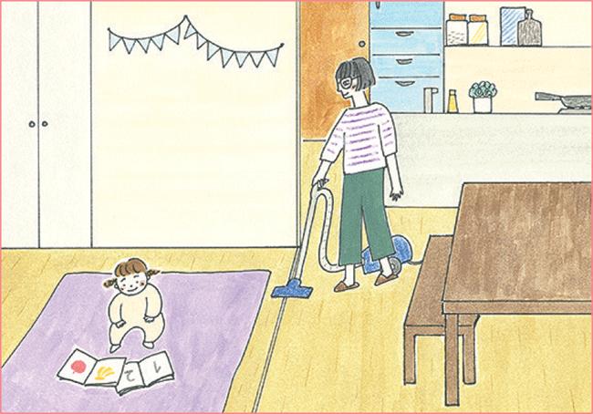 親子ともに安心して過ごせるリビング横の個室