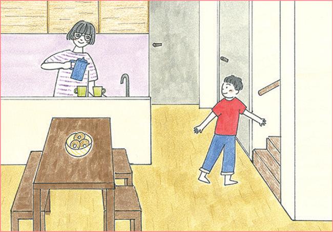 家族の会話が増やせるリビングイン階段