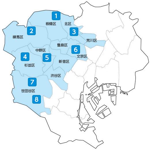 掲載駅マップ
