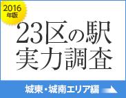 東京23区の駅 実力調査 2016年版 (城東・城南エリア)