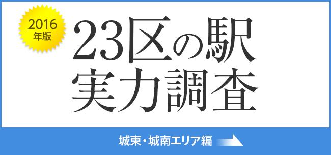 23区の駅 実力調査 城東・城南編  (2016年版)