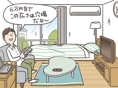 6万円台でこの広さは穴場だな〜