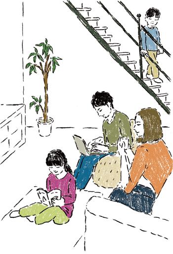 【空間術1】 家族が自然に集まる場にしたい