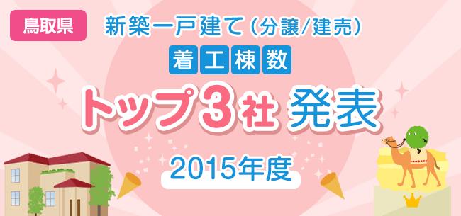 鳥取県 新築一戸建て(分譲/建売) 着工棟数トップ3社発表【2015年度】