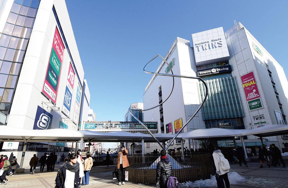 栄周辺に商業施設が集結する町田駅