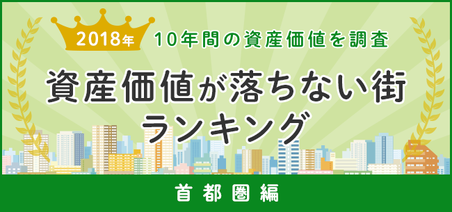資産価値が落ちない街ランキング2018 10年間の資産価値を調査~首都圏編