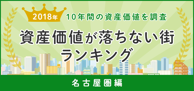 資産価値が落ちない街ランキング2018 10年間の資産価値を調査~名古屋圏編