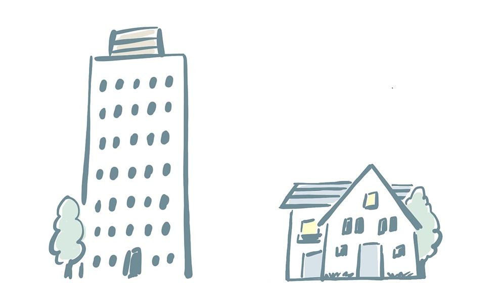 対象となる建築物:一定規模以上の建築物の新築・増改築