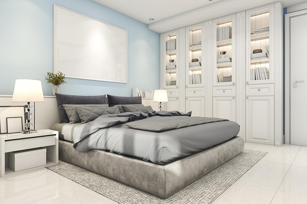 寝室の壁面収納