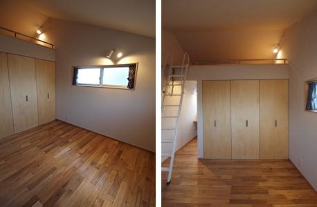 寝室の上に屋根裏部屋を設ける