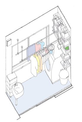 約2畳のランドリーサンルームのイメージ