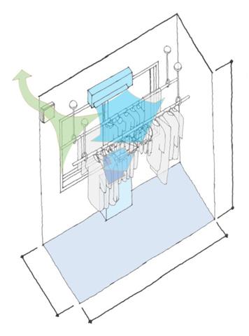部屋干しファンと換気扇の設置で洗濯臭を抑制