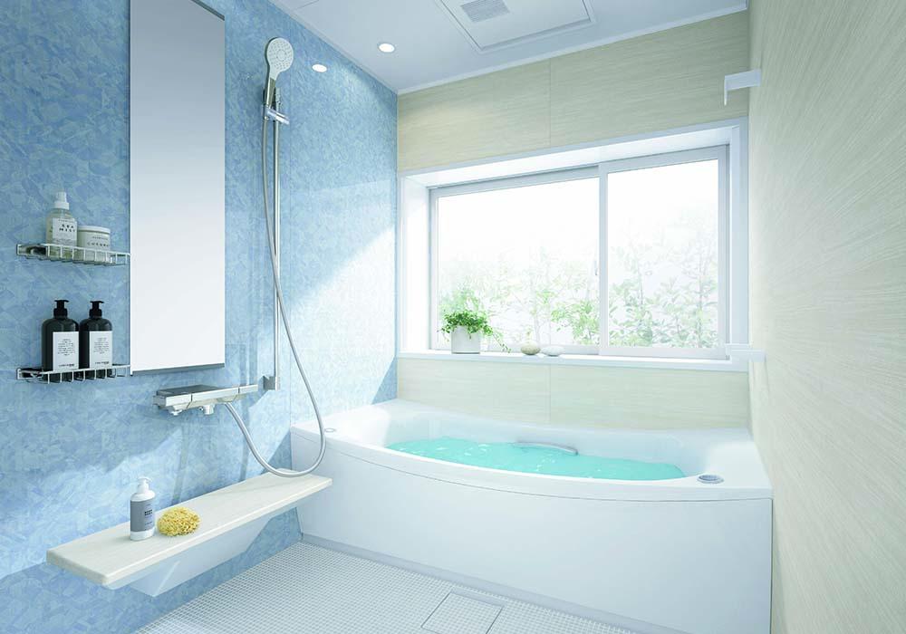 お掃除がラクな「お掃除ラクラク人大浴槽」を採用した「サザナ」