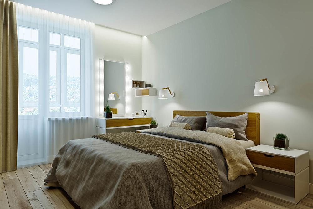 アクセントカラーとして取り入れる寝室の壁紙