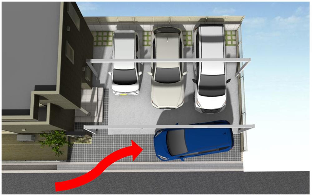 来客時用駐車スペースの作り方