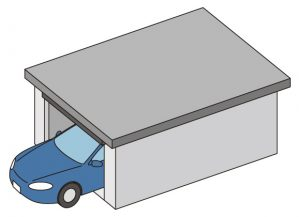ガレージのイラスト