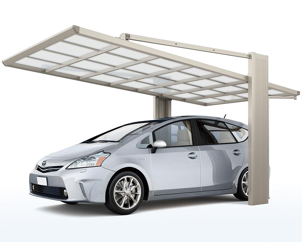 後部に柱があり使いやすいカーポート