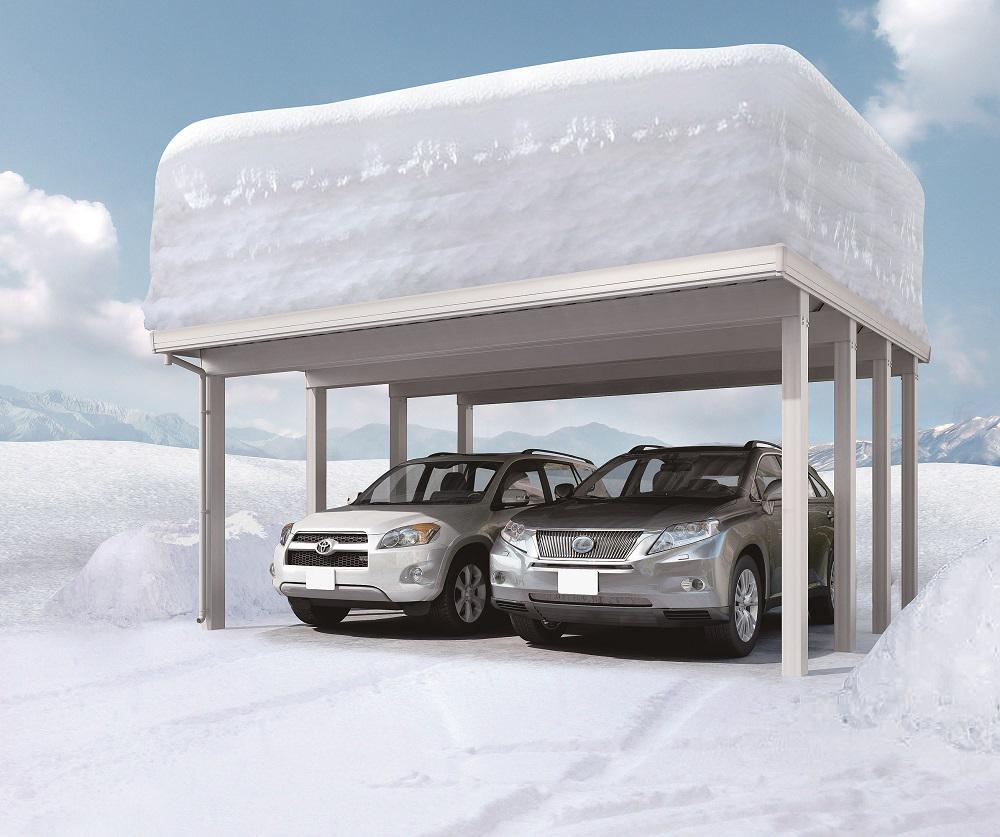 豪雪に強いカーポートもある