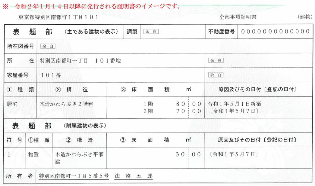 法務省 登記事項証明書