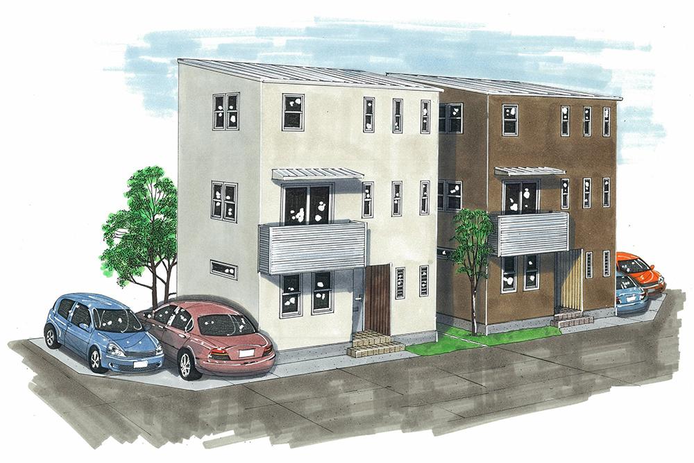 建売住宅は似た外見の家が立ち並んでしまう