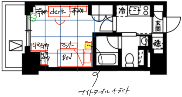 家でもデスク作業をしたい人向けのレイアウトイラスト