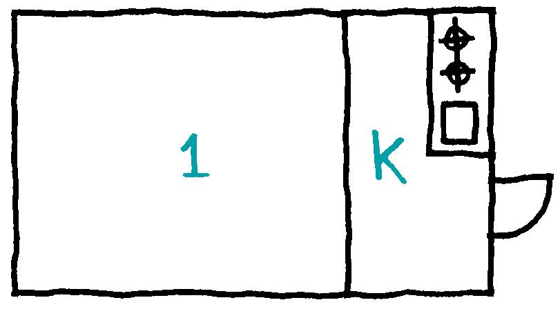 1Kの間取りイラスト