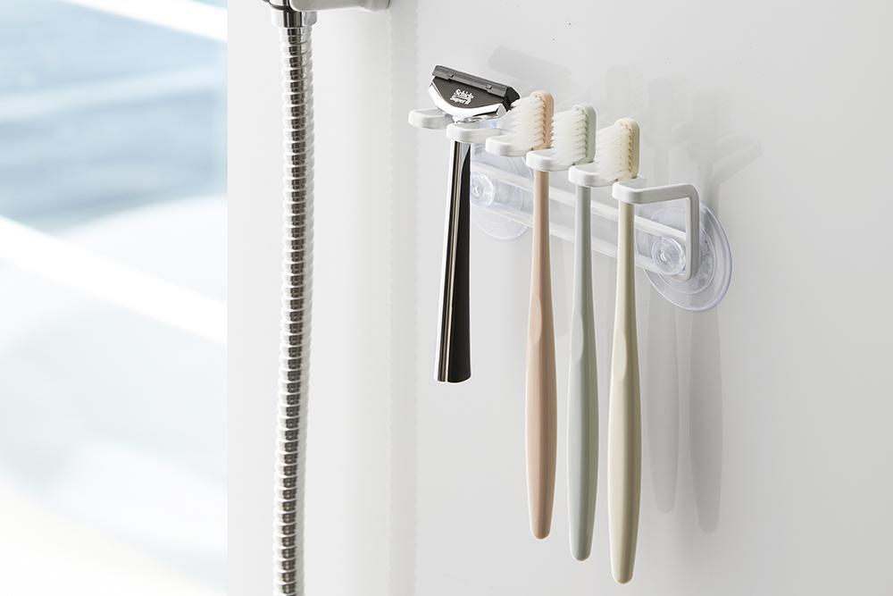 歯ブラシを浮かせて収納