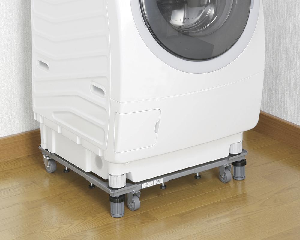 キャスター付きの洗濯機スライド台