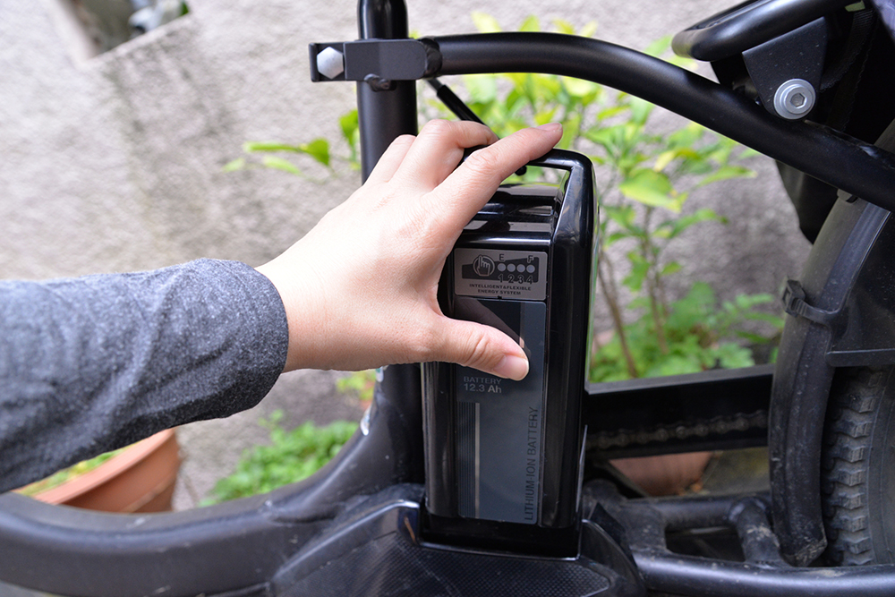 電動自転車のバッテリーの写真
