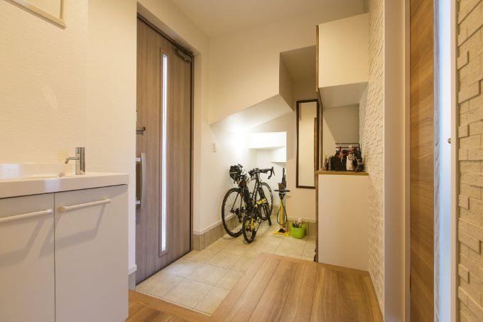 自転車が置ける玄関