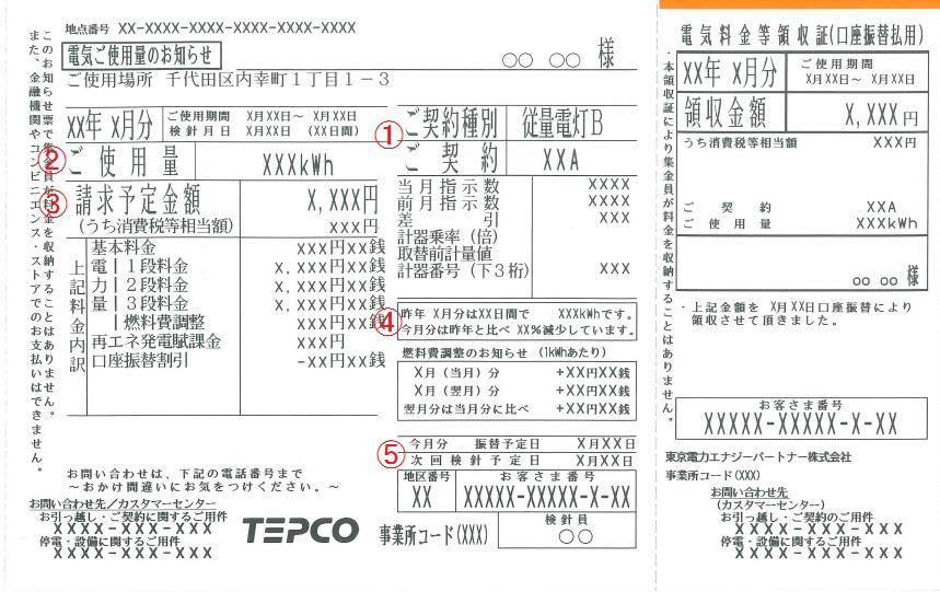 電力 口座 振替 東京