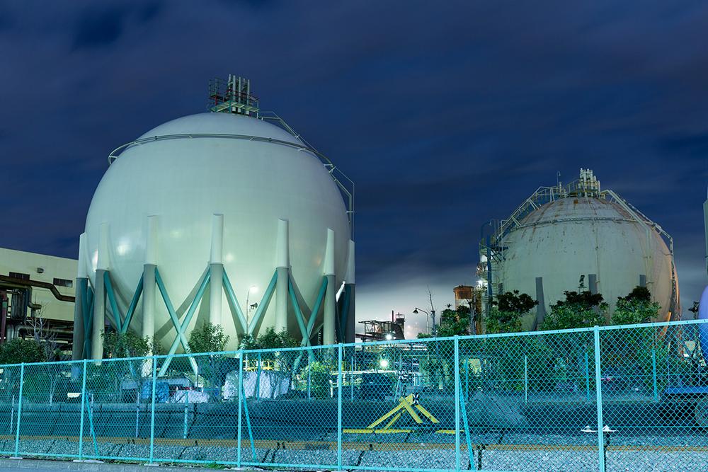 ガスタンクの写真