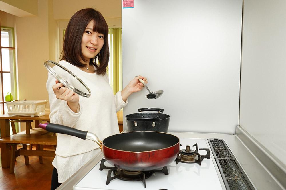 料理をする人の写真