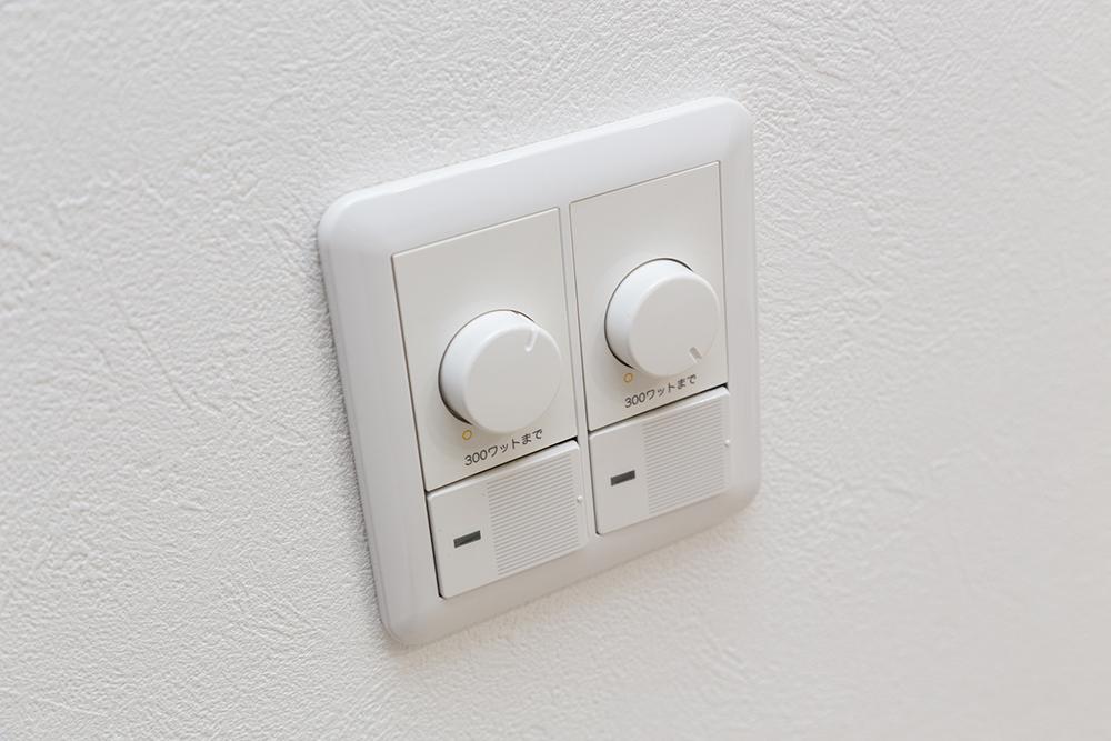 人感センサー付き照明のスイッチ