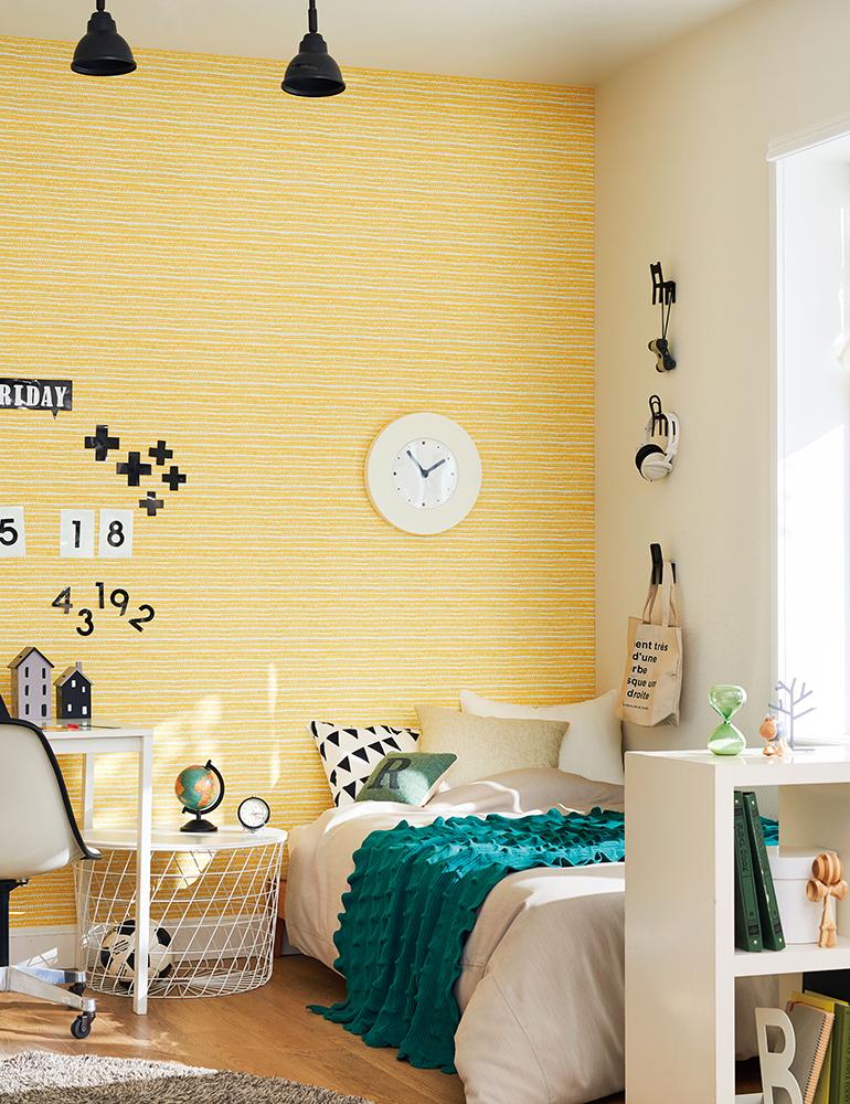 明るい色の北欧調壁紙