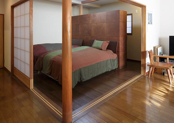 リビング横の和室を寝室にしたイメージ