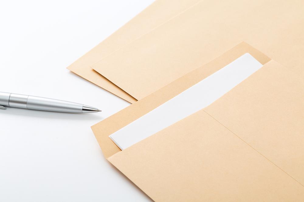 封筒に入った書類