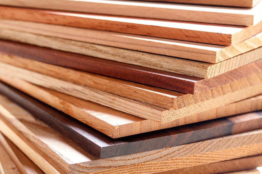 いろいろな種類の木材のイメージ