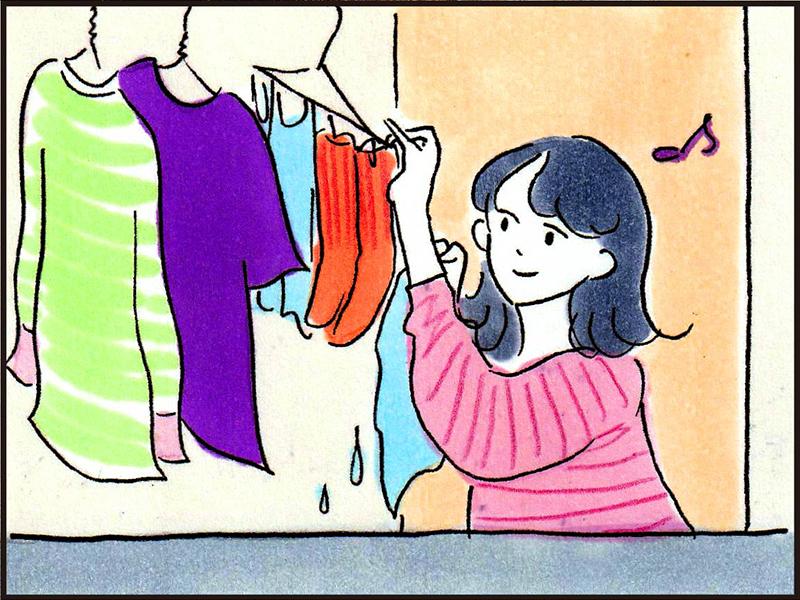 洗濯をする人のイラスト