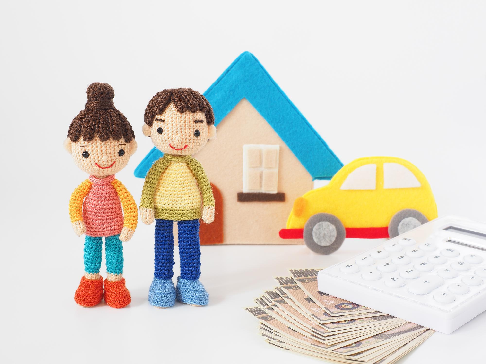 若い夫婦と収入合算のイメージ