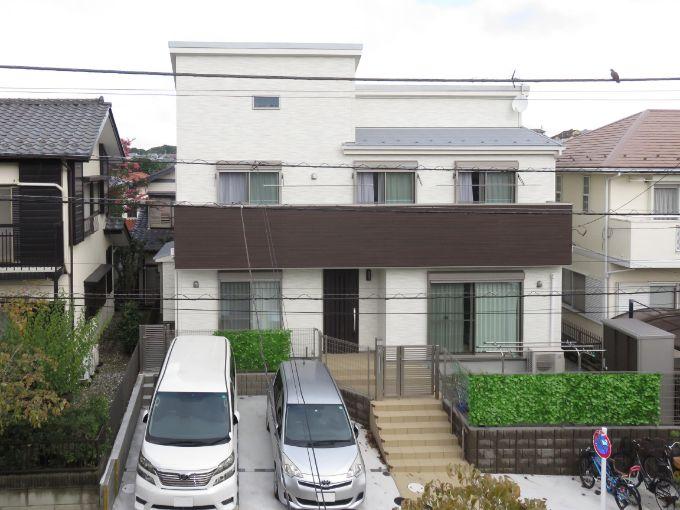 二世帯住宅の実例2の外観
