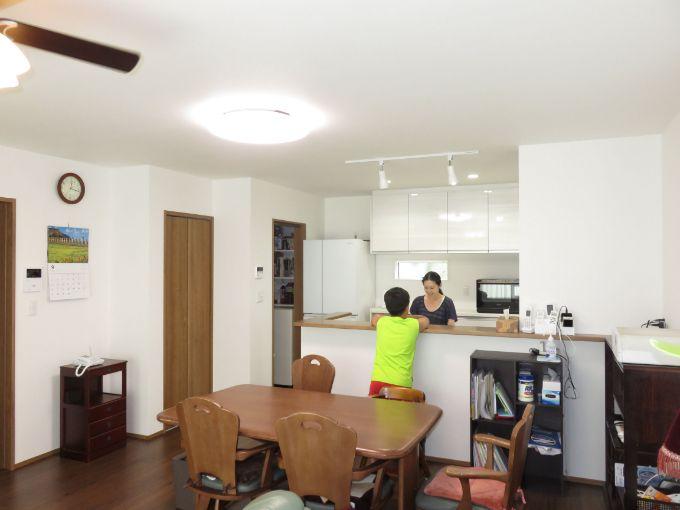 二世帯住宅の実例2のリビング